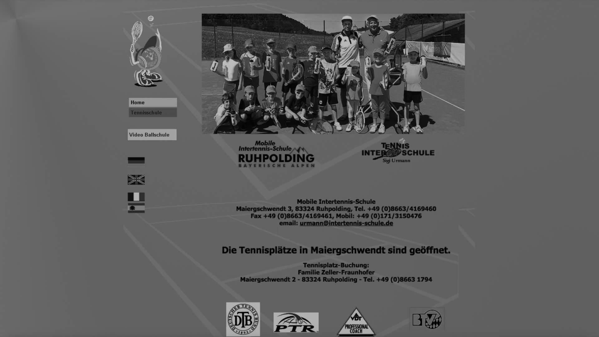 Sigi Urmann, Tennisschule, Ruhpolding